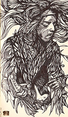 Lund (damonhendrix) Tags: music art moleskine lines illustration graphics artist drawing sketchbook doodle experience hendrix psychedelic jimihendrix kokdamon kokart