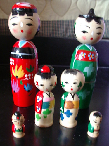 kokeshi set of nesting dolls