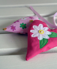 Keychain/bag charm (apple cottage company) Tags: pink flower floral yellow bag keyring heart lavender charm daisy ribbon embroidered scented ditsy keychian