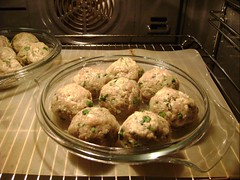 making sorrel-turkey meatballs...