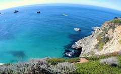 The Earth is Round (cwgoodroe) Tags: ocean california blue summer beach rock lens fun sand surf pacific pentax edited fisheye carmel algae montery