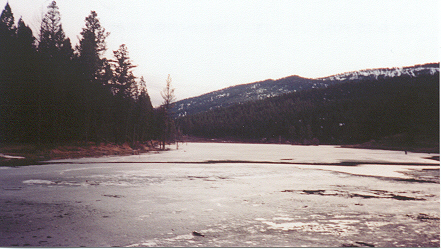 Mountain lake, April '02.