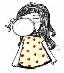 chicle (alterna ) Tags: foto otros nia etc natalia boba nati dibujos dibujo gusto chicle ilustraciones diverso corazones trabajos alterna alternativa creaciones cuaquiera alternaboba