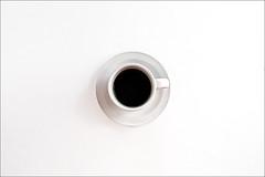One Shot (Felix Neiss) Tags: white black cup tasse coffee kaffee fromabove espresso 2008 schwarz lightbox saucer untertasse weis vonoben g9 strobist 1light neiss felixneiss