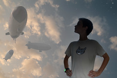 Returning (dcecil805) Tags: california pink blue boy sky usa art illustration clouds stars evening watch fantasy blimp jameskochalka airship photoillustration spandy