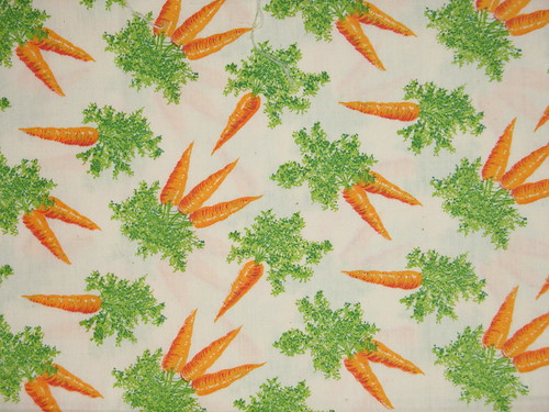 Vintage carrot fabric!