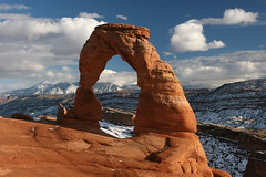 Delicate Arch (maarten49) Tags: sunset snow clouds utah arch arches moab np delicate archesnp delicatearch dekicatearch