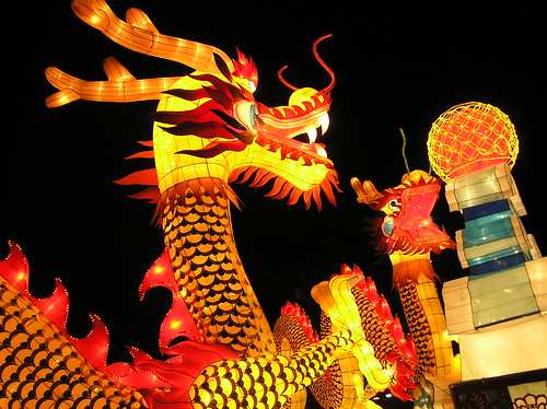 Fire Dragon in Lantern Festival