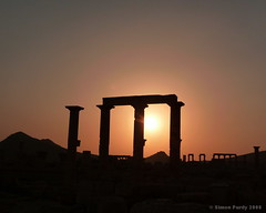 Sunset over the ruins, Palmyra, Syria (Simon Purdy) Tags: sunset art photo middleeast syria palmyra romanruins thebestofday gnneniyisi photoartbloggroup