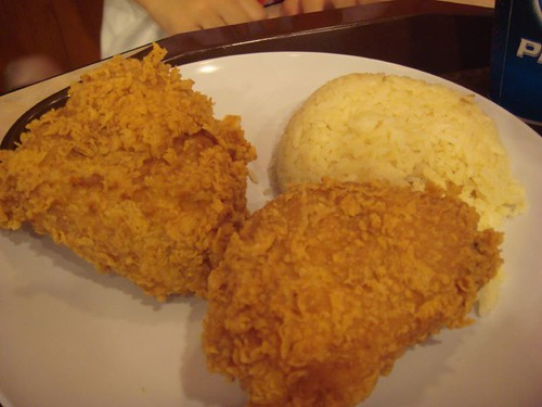 Spicy fried chicken@KFC
