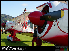 Red Nose Day ? (James Whorriskey (Delbert Jackson)) Tags: uk ireland catchycolours londonderry planes northernireland derry ulster acrobatic impressionsexpressions aroundus portrushairshow jameswhorriskey delbertjackson jameswhoriskey bellerena ulsterglidingclub