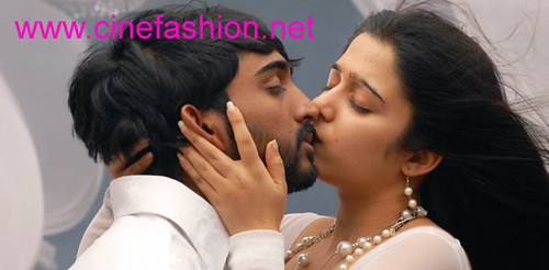 Sexy actress Charmi kissing scene in Laadam