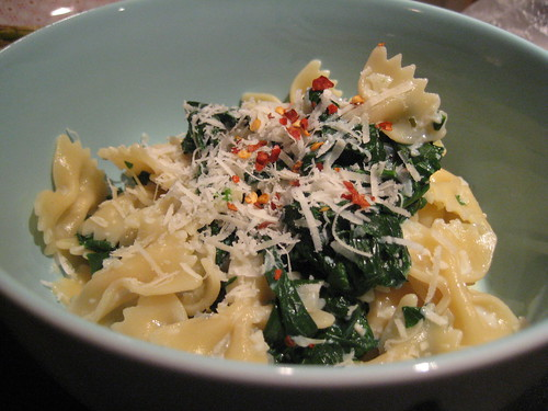 light creamy spinach pasta