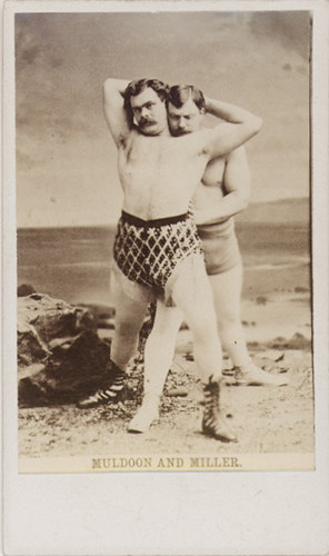 Muldoon and Miller - Wrestlers - Carte-de-visite