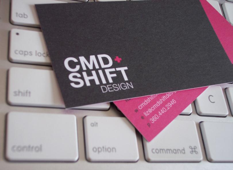 CMD+Shift Design Business Cards - Close Up