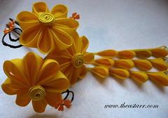 kp_fallyo1 (thea superstarr) Tags: flower hand handmade silk fabric dyed seatte hairaccessories kanzashi theastarr