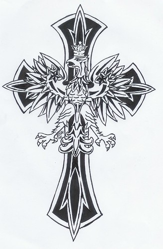 A celtic cross tattoo at man's back. Celtic Cross Designs Eagle on Cross Tattoo A tattoo I