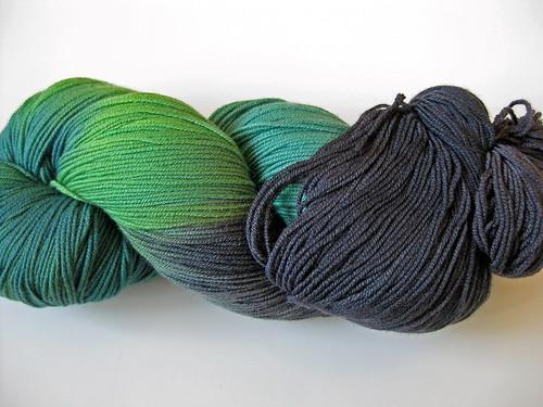 Handgefaerbt- Green Elve