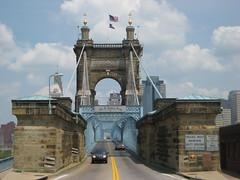 John A Roebling Bridge 1865 (puroticorico) Tags: city ohio history architecture modern river campus university cincinnati architect