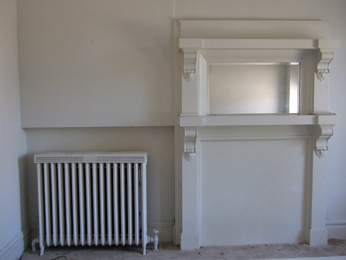 Radiator and Fireplace
