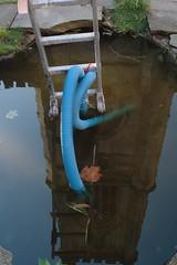 Skyladders (Ruth_W) Tags: reflection art liverpool lancashire installation ladder yoko biennale 2008 stlukes yokoono ono skyladders merseyside capitalofculture bombedchurch
