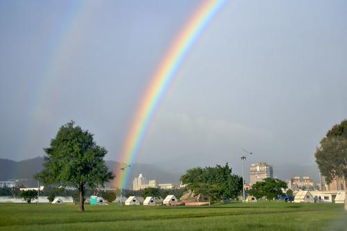兩道彩虹 2008-10-16 紀念王永慶