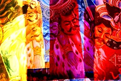 The Colourful Head Hunter (orange tuesday) Tags: blue red india color colour colors yellow photoshop painting colorful paint colours head indian hunter shiva