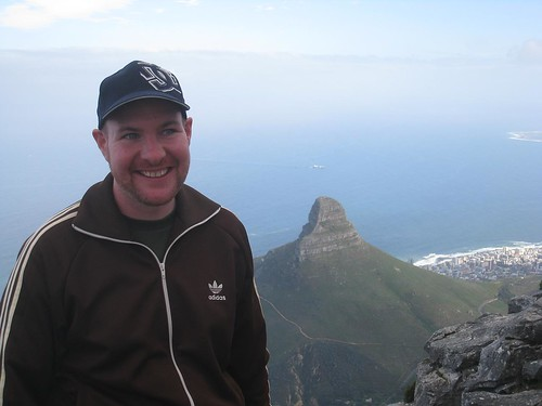 Atop Table Mountain with Lion's Head in the background