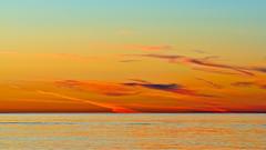 Keep it Simple (Fort Photo) Tags: sunset red vacation sky orange water landscape outdoors gold washington nikon state northwest dusk pacificnorthwest wa pugetsound orcasisland sanjuans minimalism 2008 169 pnw d300 mywinners 2008reunionnature