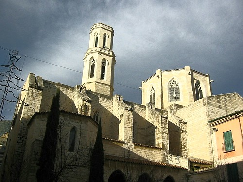 Figueres, Catalonia, Spain - The church of Sant Pere