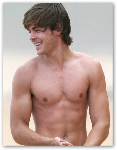 Zac Efron Shows Off Shirtless Body