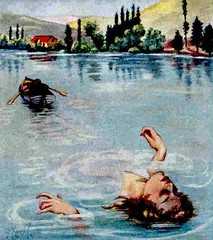 Tragedy (hagerstenguy) Tags: lake girl illustration river boat scary tragedy horror девушка شبح رعب призрак