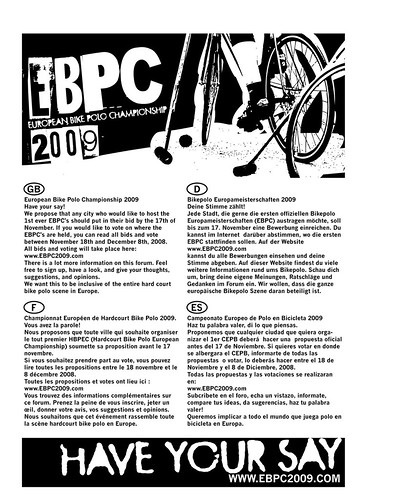 european bike polo championship 2009 have your say flier