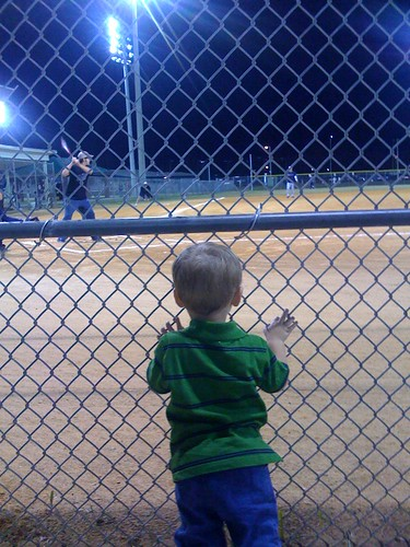 Watching Uncle Mike at bat
