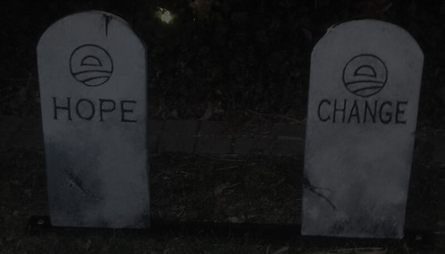 Obama Buries Hope and Change