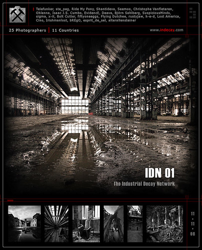 IDN01 - The Industrial Decay Network (Promo Flyer 1)