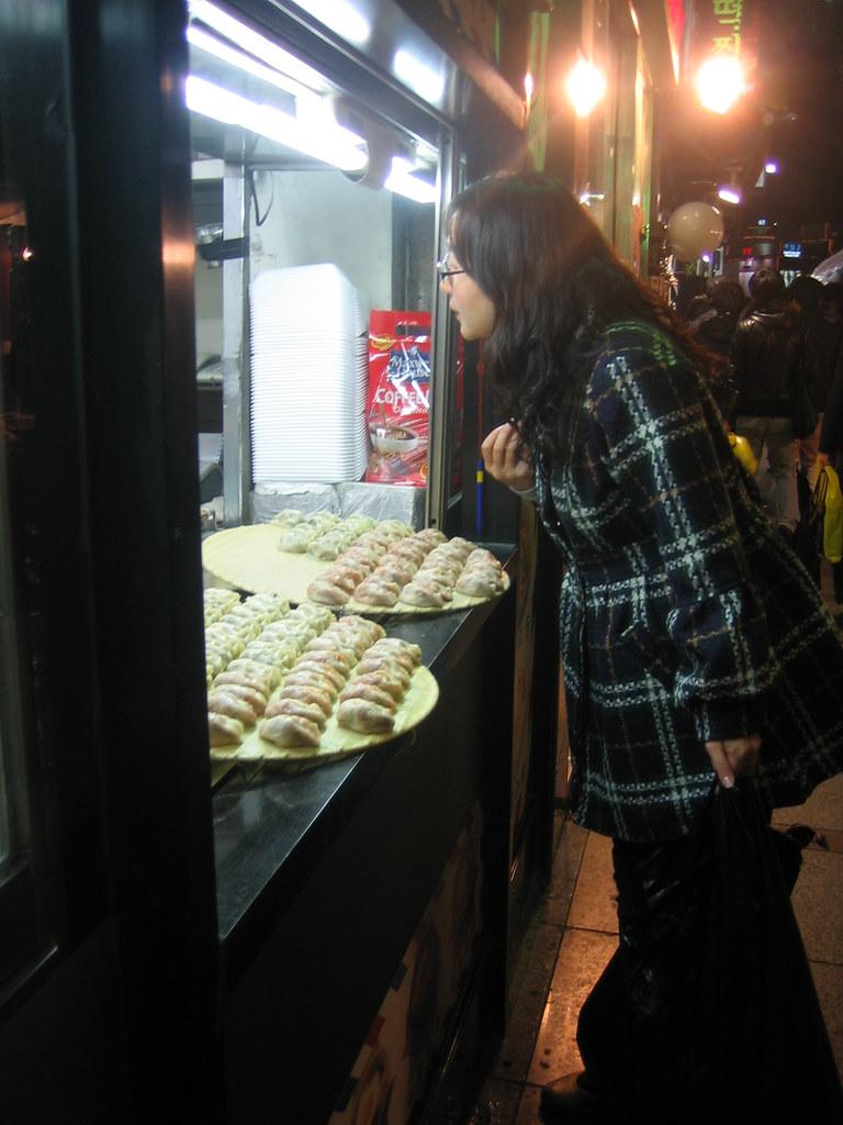 Mandu (Dumplings) street sale