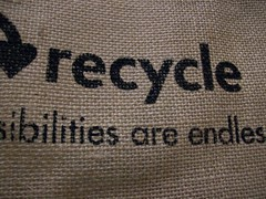Recycle jute bag (lydia_shiningbrightly) Tags: bag textile material recycle recycling jute