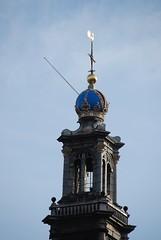 Westerkerk tower (jimforest) Tags: amsterdam westerkerk