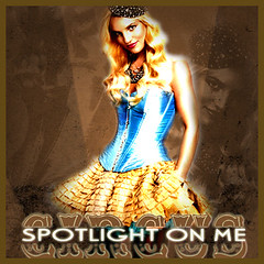 Britney Spears: Circus [BLEND] (3lackoutman) Tags: from me out amy you spears circus under spotlight if unusual seek britney blend womanizer
