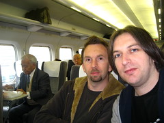 Andy and me on the train