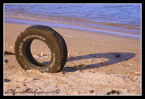 Sombra en la arena