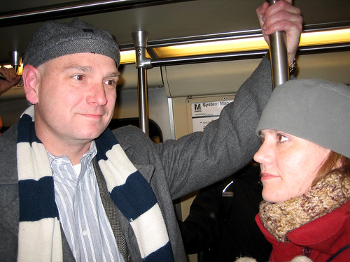scott and rebecca on the metro