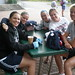 Chanda Gunn, Sam Faber, Kelly Stack, Gigi Marvin, and Anna Macdonald hanging out at camp