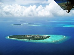 Baa. Dharavandhoo ( Ahmed Amir) Tags: trip travel family november blue sea vacation sky cloud sun white holiday black flower green beach nature water beautiful yellow clouds canon island islands fly wings day unique wing visit daily explore amir unclassified areal maldives ahmed arial atoll uniquemaldives