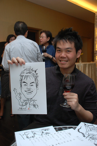 Caricature live sketching for Far East Organisation SPH Media Night The Miro 7