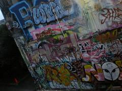 11/26/08 Free Wall (sixheadedgoblin) Tags: stencil spray owl roller publicart splash luigi olympiawashington nok gnosis booyah artem freewall freewallwide2