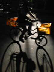 Cargo bike (Carlos Ebert) Tags: shadow bike bicycle backlight cargo soe bycicle mywinners abigfave aplusphoto 100commentgroup