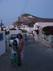 On our way to dinner (Carlitos) Tags: woman sarah island mujer europa europe martha greece grecia hora isla chora cyclades folegandros ellda  cicladas