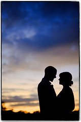 Greetings from Miami (Ryan Brenizer) Tags: wedding sunset portrait love silhouette groom bride twilight nikon december miami 2008 flordia redfishgrill d700